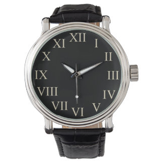 Big Bold Vintage Retro Black Classic Watch