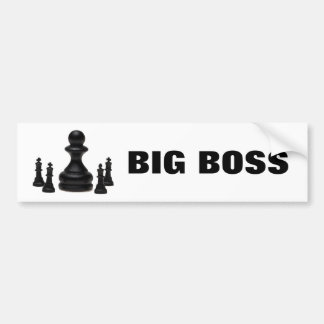 Big Boss Bumper Sticker