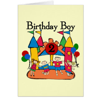 Two Year Old Birthday Card Big Bounce Boy 2nd Tshirts And Gifts
