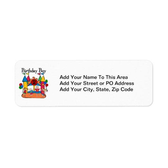 Big Bounce Boy 2nd Birthday Tshirts and Gifts Return Address Label
