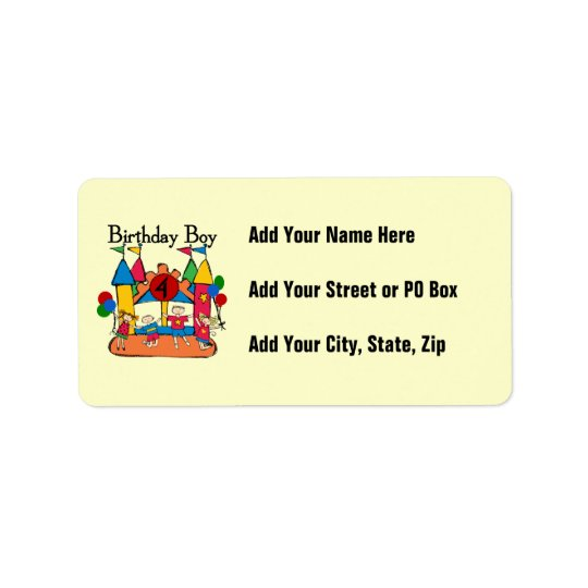 Big Bounce Boy 4th Birthday Tshirts and Gifts Label
