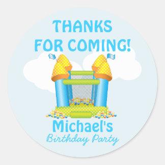 Big Bouncy Bounce House Birthday Favor Sticker
