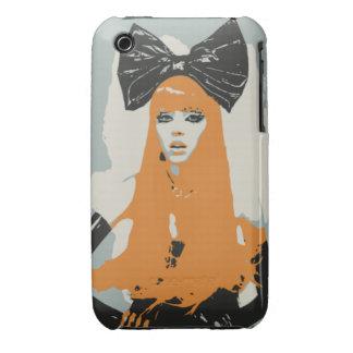 Big Bows & Orange Hair iPhone 3 Case-Mate Cases