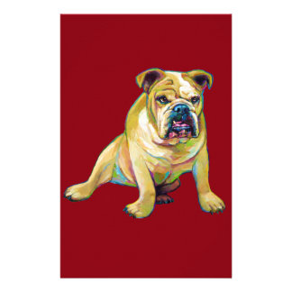 Big Boy Cute Bulldog Stationery