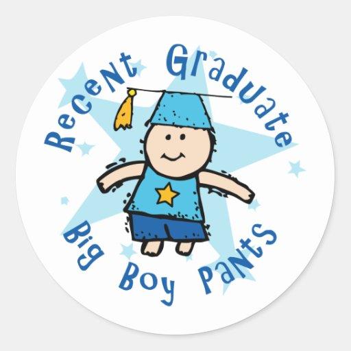 Big Boy Pants Round Sticker