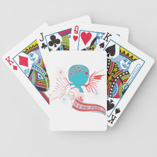 Big-Brained Superhero Da Vinci Flying Avatar Bicycle Playing Cards