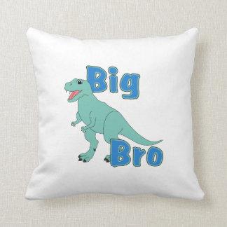 Big Bro Green Dinosaur Throw Pillow
