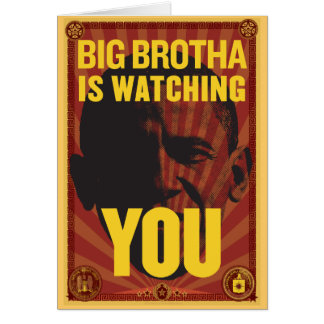 Big Brotha Is Watching You Birthday Card