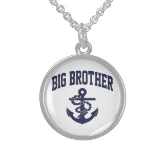 Big Brother Anchor Sterling Silver Necklace