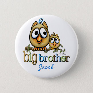 Big Brother - Baby Bro Owls 2 Inch Round Button