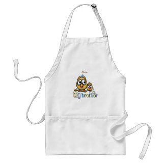 Big Brother - Baby Sis Owls Standard Apron