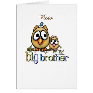 Big Brother - Baby Sis Owls Card