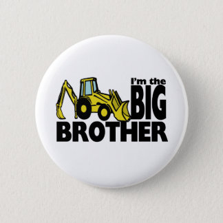 Big Brother Backhoe 2 Inch Round Button