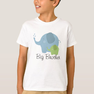 Big Brother Blue and Green Elephant Boys Tee