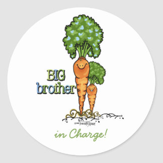 Big Brother - Carrot Round Sticker