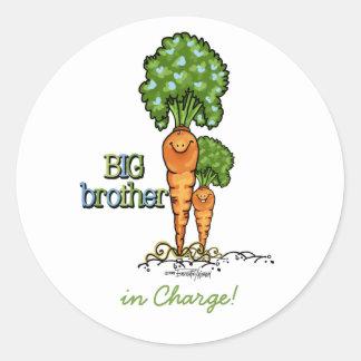 Big Brother - Carrot Round Sticker