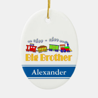 Big Brother Choo Choo Train Ceramic Oval Ornament