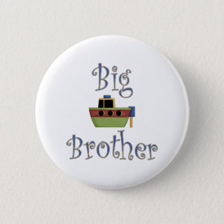 Big Brother Cute Boat 2 Inch Round Button