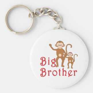 Big Brother Cute Monkeys 2 Keychain