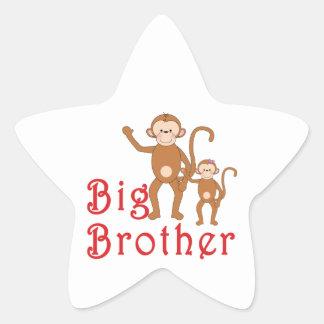 Big Brother Cute Monkeys 2 Star Sticker