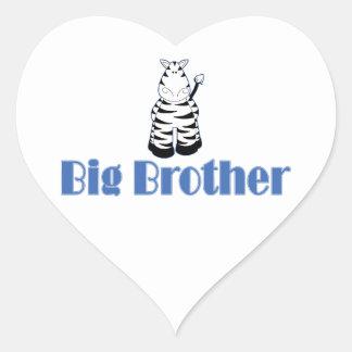 Big Brother Cute Zebra Heart Sticker