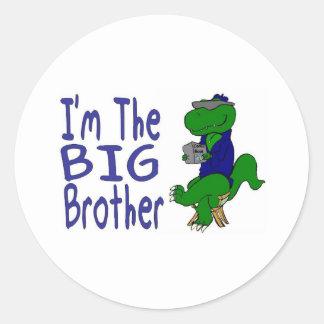 big brother dino 08 round sticker