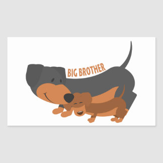 Big Brother (dogs) Rectangle Stickers
