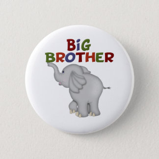 Big Brother Elephant  T Shirts and Gifts 2 Inch Round Button