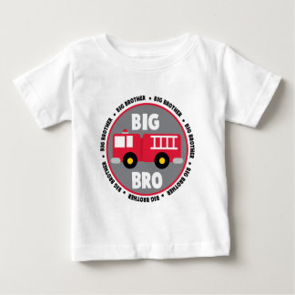 Big Brother Fire Truck Baby T-Shirt