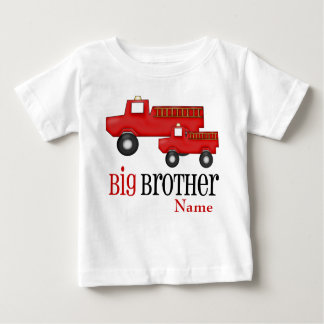 Big Brother Fire Truck Personalized Shirt