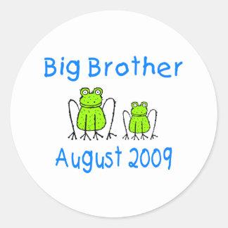 Big Brother Frog August 2009 Round Sticker