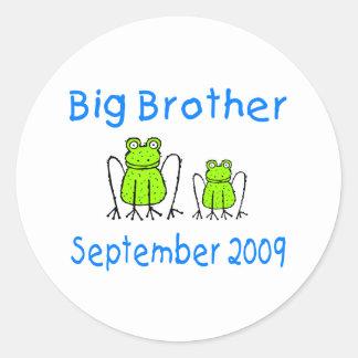 Big Brother Frog September 2009 Round Sticker