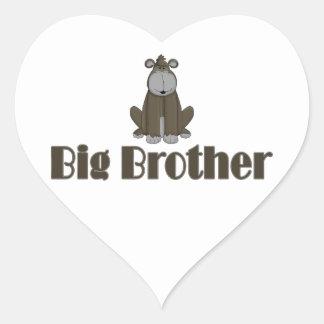 Big Brother Gorilla Heart Sticker