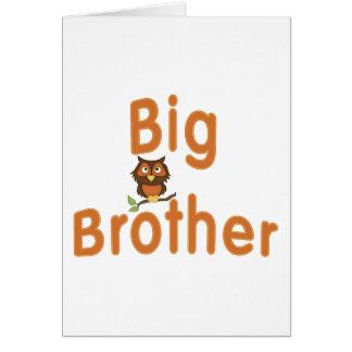 Big Brother Hoot Owl Card