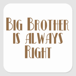 Big Brother Is Always Right Square Sticker