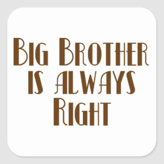 Big Brother Is Always Right Stickers