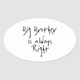 Big Brother Is Always Right Sticker