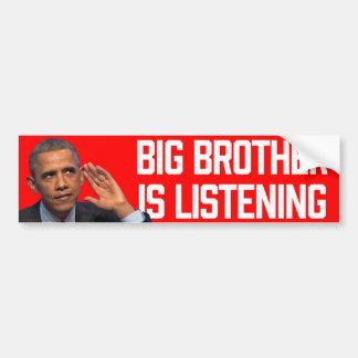 Big Brother Is Listening Obama Stickers Car Bumper Sticker