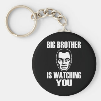 Big Brother is Watching You Basic Round Button Keychain