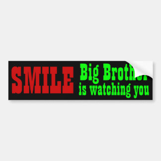 Big Brother is watching you bumpersticker Bumper Sticker