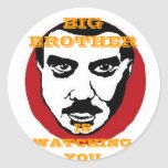 BIG BROTHER IS WATCHING YOU ROUND STICKER