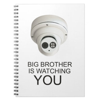Big brother is watching you spiral note books