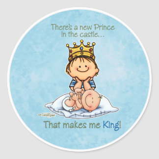 Big Brother - King of Prince Round Sticker