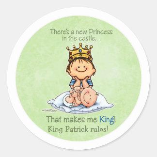Big Brother - King of Princess Round Sticker