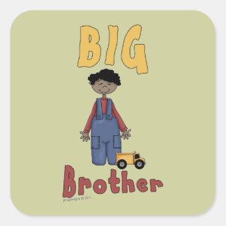 Big Brother Little Boy 5 Square Sticker