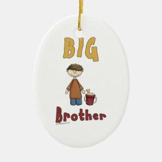 Big Brother Little Boy 9 Ceramic Oval Ornament