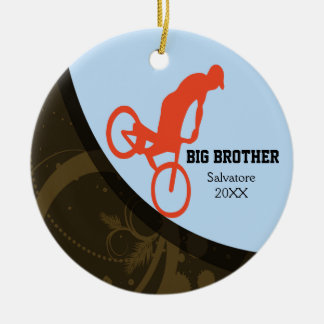 Big Brother/ Little Brother Bike Jumping Ornament