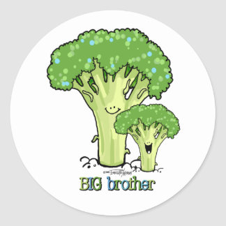 Big Brother - little sibling Round Sticker