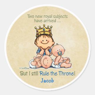 Big Brother of Twins Round Sticker