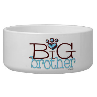 Big Brother Paw Print Pet Bowl
